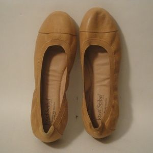 Josef Siebel Tan Leather Elastic Balerina Flats 37
